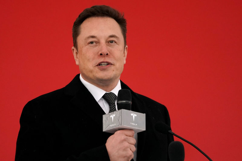 © Reuters. Tesla CEO Elon Musk attends the Tesla Shanghai Gigafactory groundbreaking ceremony in Shanghai