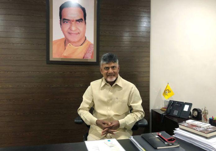 © Reuters. N Chandrababu Naidu, chief minister of the southern state of Andhra Pradesh