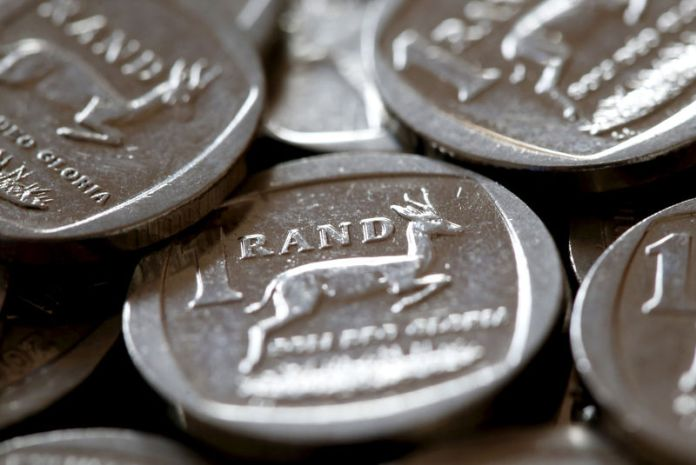© Reuters. South African Rand coins are seen in this photo illustration