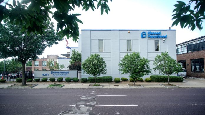 © -. A street view outside Missouri's sole abortion clinic in St. Louis