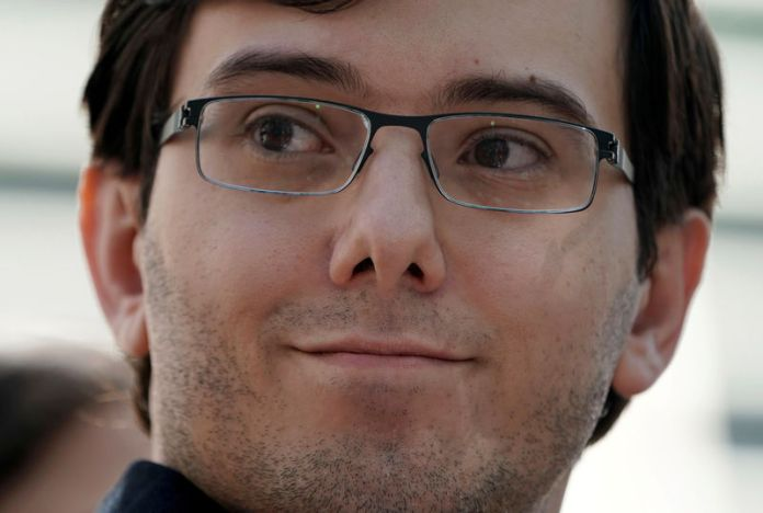 © -. FILE PHOTO: Former drug company executive Martin Shkreli exits U.S. District Court after being convicted of securities fraud, in the Brooklyn borough of New York City