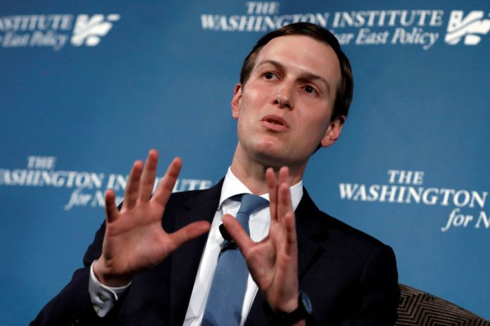 © -. FILE PHOTO: White House senior adviser Jared Kushner attends a discussion at WINEP dinner in Washington
