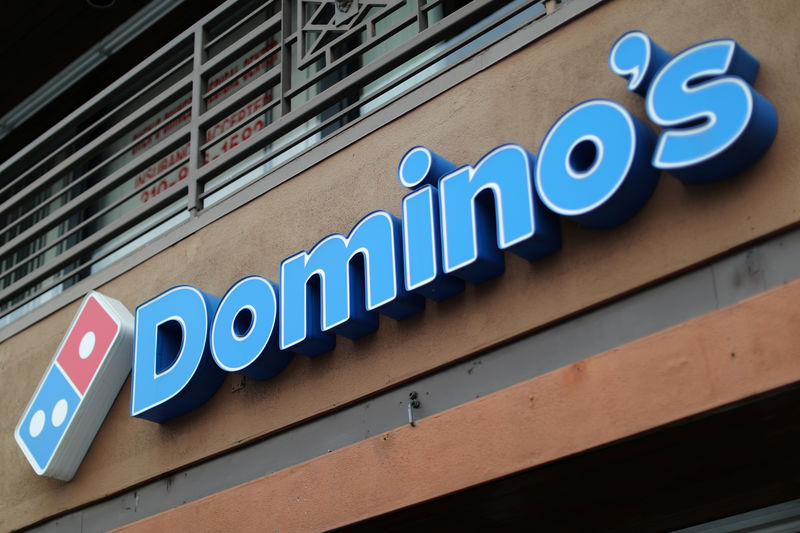 © Reuters. FILE PHOTO: A Domino's Pizza restaurant is seen in Los Angeles