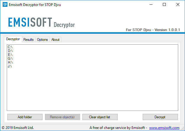 Emsisoft Decryptor for STOP Djvu
