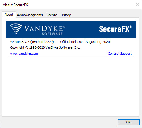 VanDyke SecureCRT and SecureFX 8.7.3 Build 2279