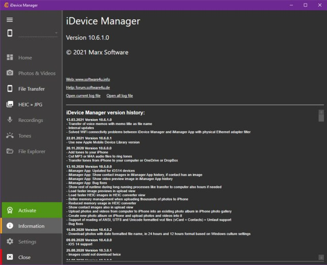 iDevice Manager Pro Edition 10.6.1.0