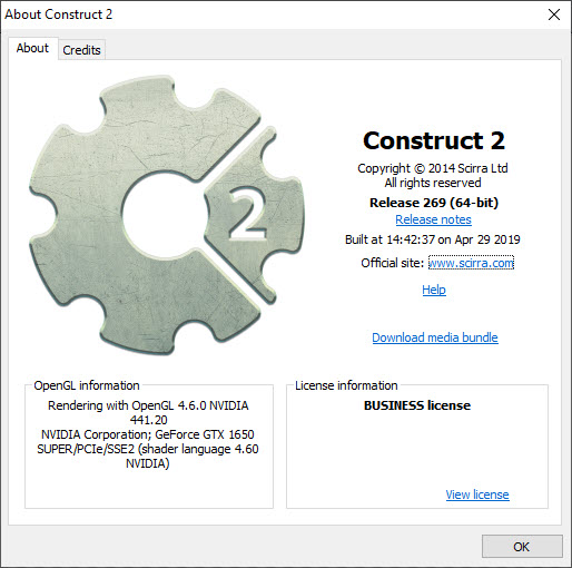 Construct 2 Business Edition r269 Stable