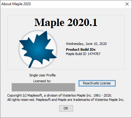Maplesoft Maple 2020.1 x64