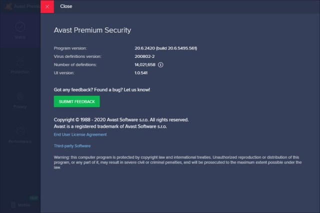 Avast Premium Security 20.6.2420
