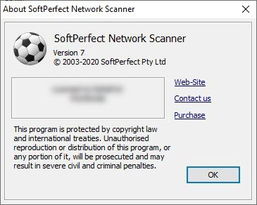 SoftPerfect Network Scanner 7.3.0