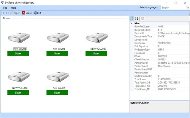 SysTools VMware Recovery 8.0.0