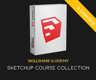 SKILLSHARE & UDEMY SKETCHUP COURSE COLLECTION
