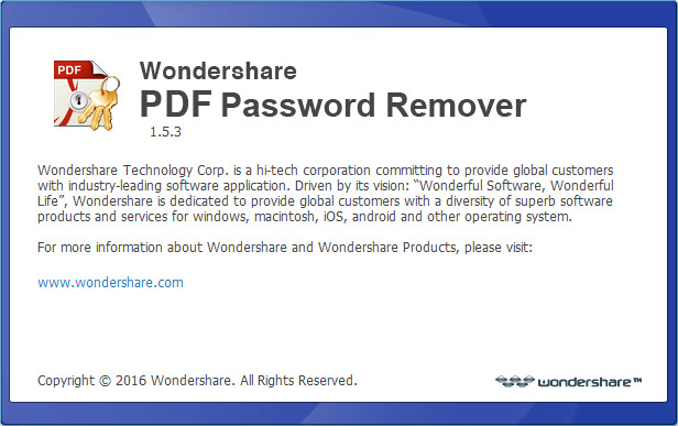 Wondershare PDF Password Remover 1.5.3.3