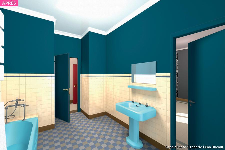 relooking vintage d une salle de bains