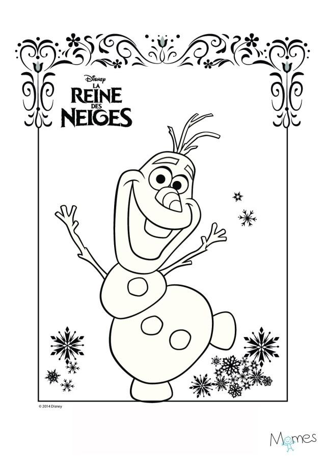 Coloriage Reine des Neiges : Olaf  MOMES.net