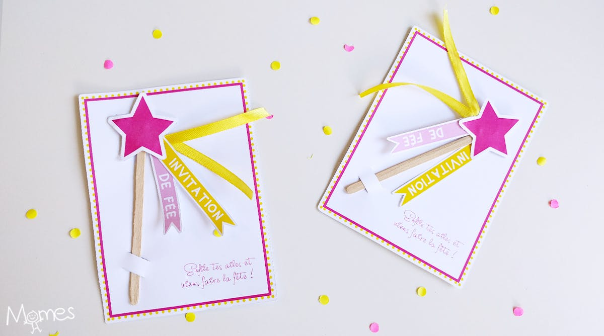invitation anniversaire fee baguette