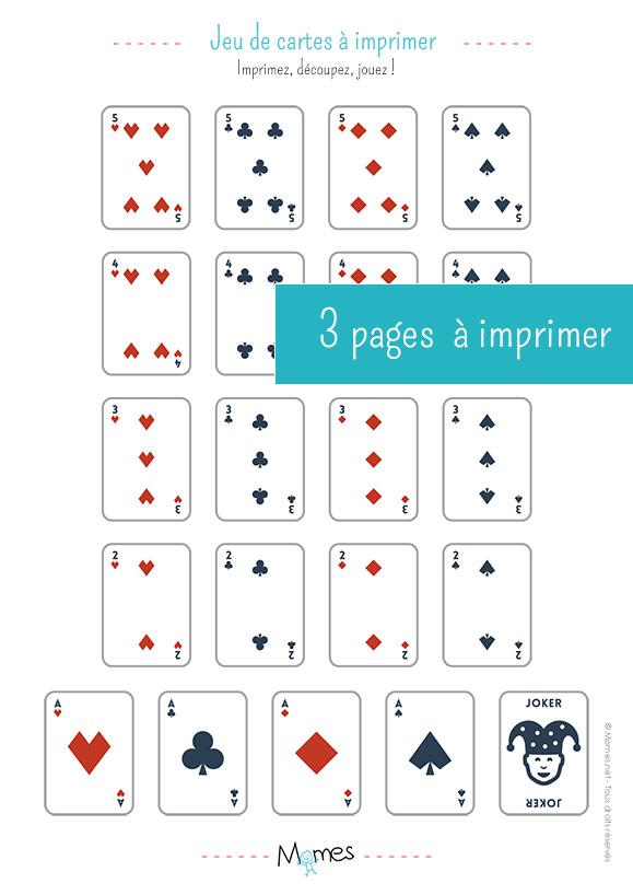 Jeu De Carte A 3 : carte, Cartes, Imprimer, MOMES.net