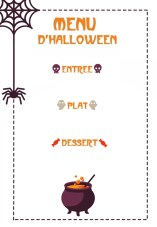 Menu Halloween A Imprimer Momes Net