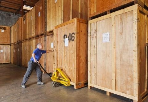 Vaults storage solutions at a warehouse.