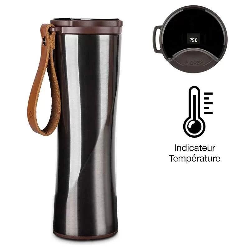 bouteille isotherme xiaomi avec indicateur led de temperature 430 ml
