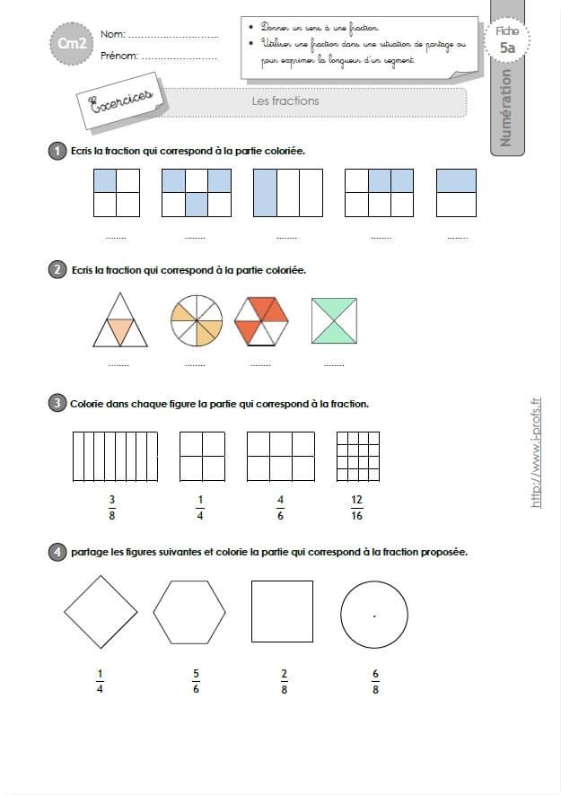 fractions | MA MAITRESSE DE CM1-CM2
