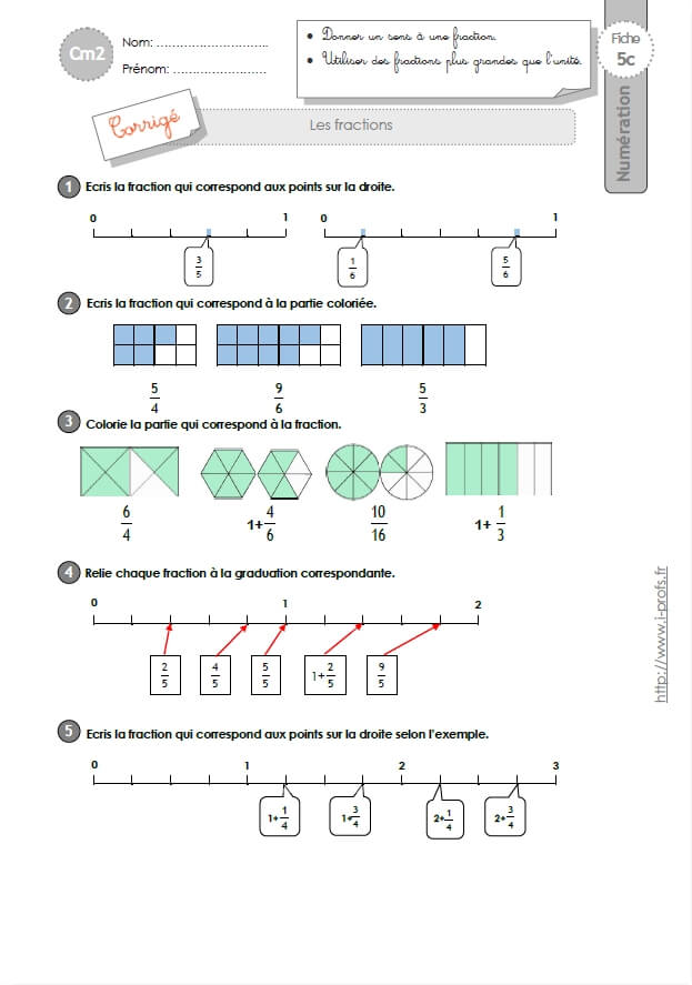 Exercices Sur Les Fractions Cm2 : exercices, fractions, EXERCICES, Fractions
