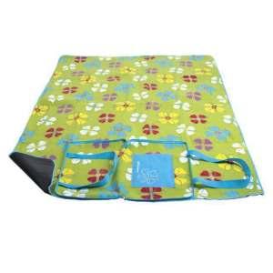 Spokey Picnic Blanket Flowers 150 x 180cm (folded bag)