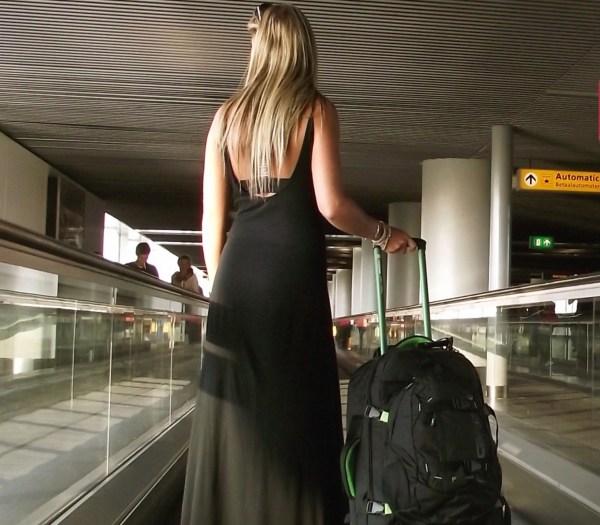 Hand Luggage Trolley Backpack Caribee 45Liter Fast Track