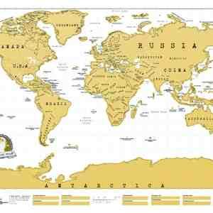 Scratch Map Travel World Luckies of London Original