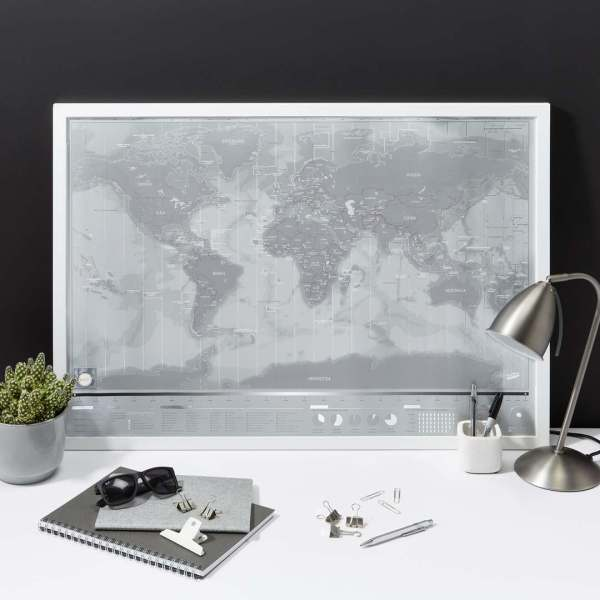 Scratch Map Travel World Luckies of London Platinum
