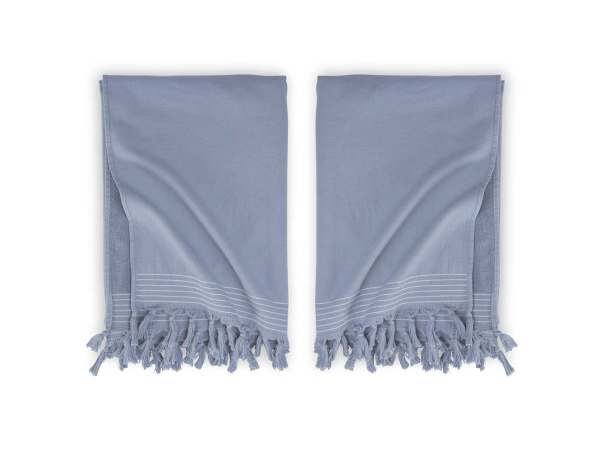 Hamam Hammam Bath Towel Soft Cotton Walra Blue