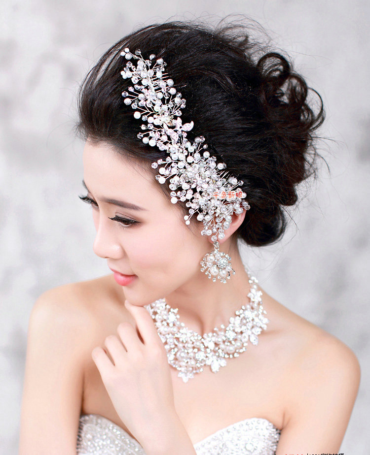 Buy Wholesale Elegant Wedding Pearl Crystal Beads Flower