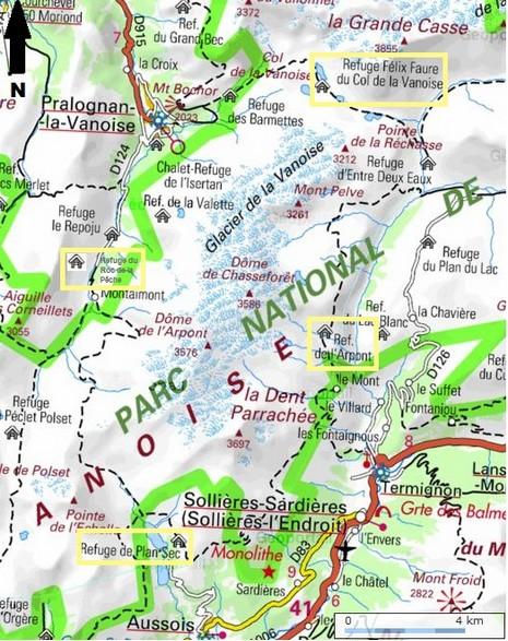 Parc De La Vanoise Carte : vanoise, carte, Glaciers, Vanoise, I-Trekkings
