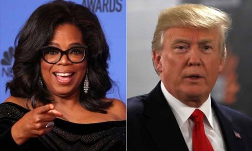 Nữ hoàng truyền hình Oprah Winfrey và Tổng thống Mỹ Donald Trump. Ảnh: Reuters/AFP.