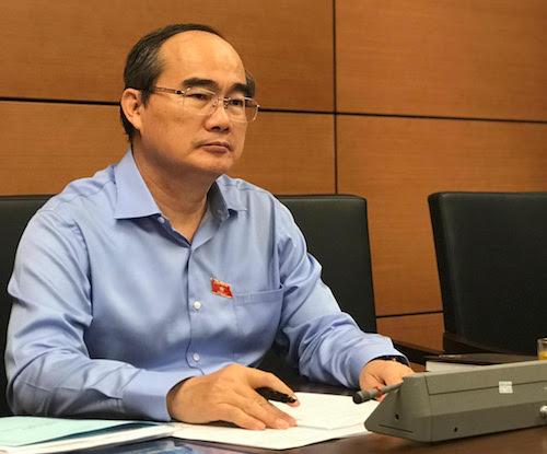 Ông Nguyễn Thiện Nhân, Bí thư thành uỷ TP HCM tại phiên họp tổ TP HCM chiều 29/5. Ảnh: H.T