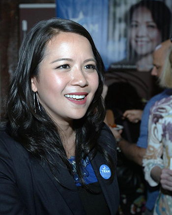 Tram Nguyen, who recently won a seat in the Massachusetts House of Representatives. Photo: Andover Townsman
