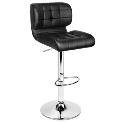 Chair Plus Stool Harbour Upholstery/steel Base 2x Bar Stools Pu Leather Chrome Kitchen Barstool Gas