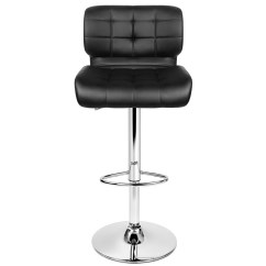 Chair Plus Stool Xl Dining Room Covers 2x Bar Stools Pu Leather Chrome Kitchen Barstool Gas