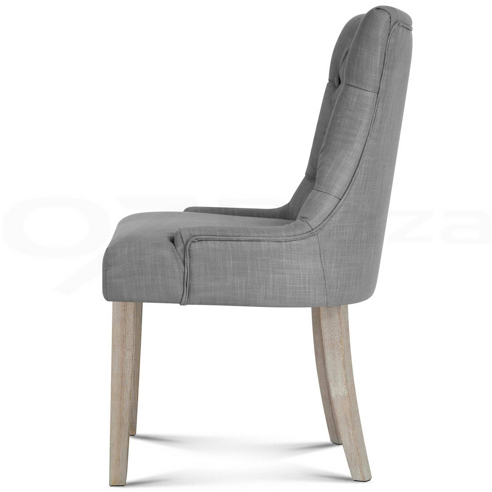 Grey Wood Dining Chairs 2x Cayes Dining Chair Linen Fabric French Provincial Wood