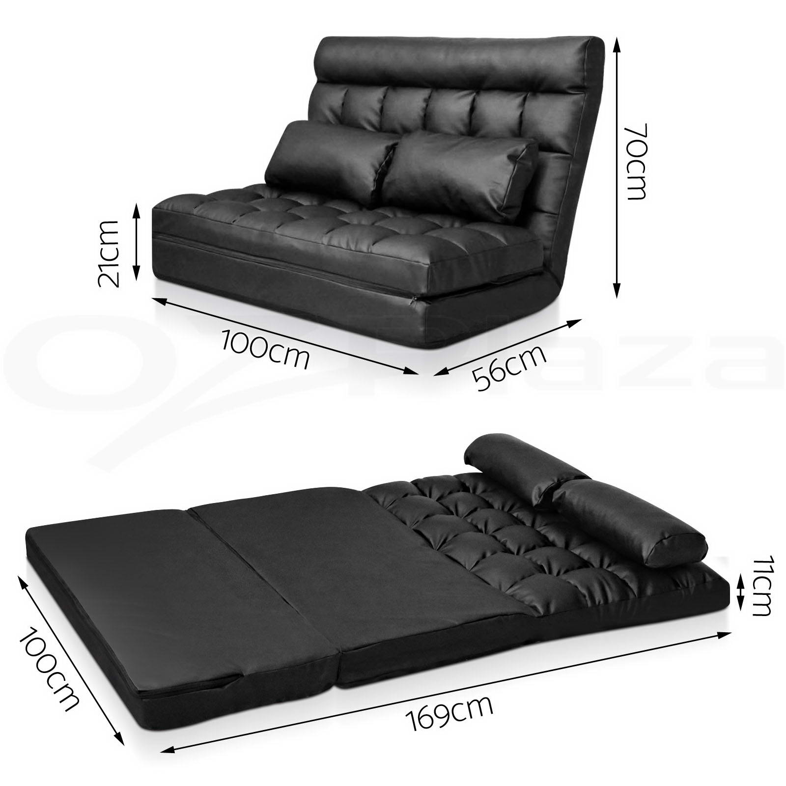 Floor Lounge Chair Lounge Sofa Bed Double Size Floor Recliner Folding Chaise