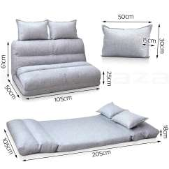 Folding Floor Sofa Chair For Theater Room Lounge Bed Double Size Recliner Chaise