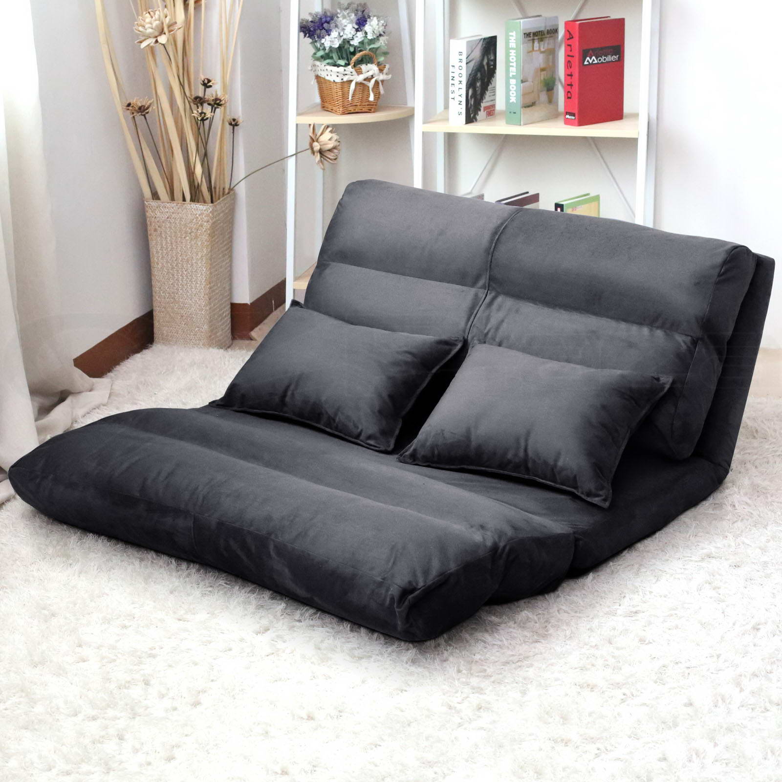 Bed Chair Lounge Sofa Bed Double Size Floor Recliner Folding Chaise