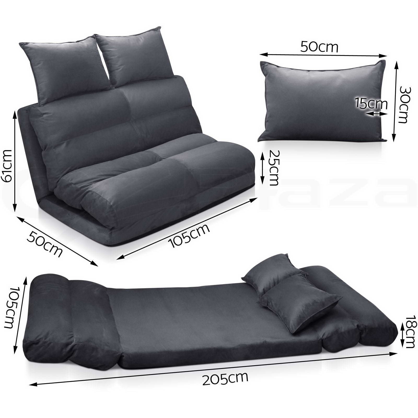 adjustable floor chair with 5 settings anti gravity hanging lounge sofa bed double size recliner folding chaise