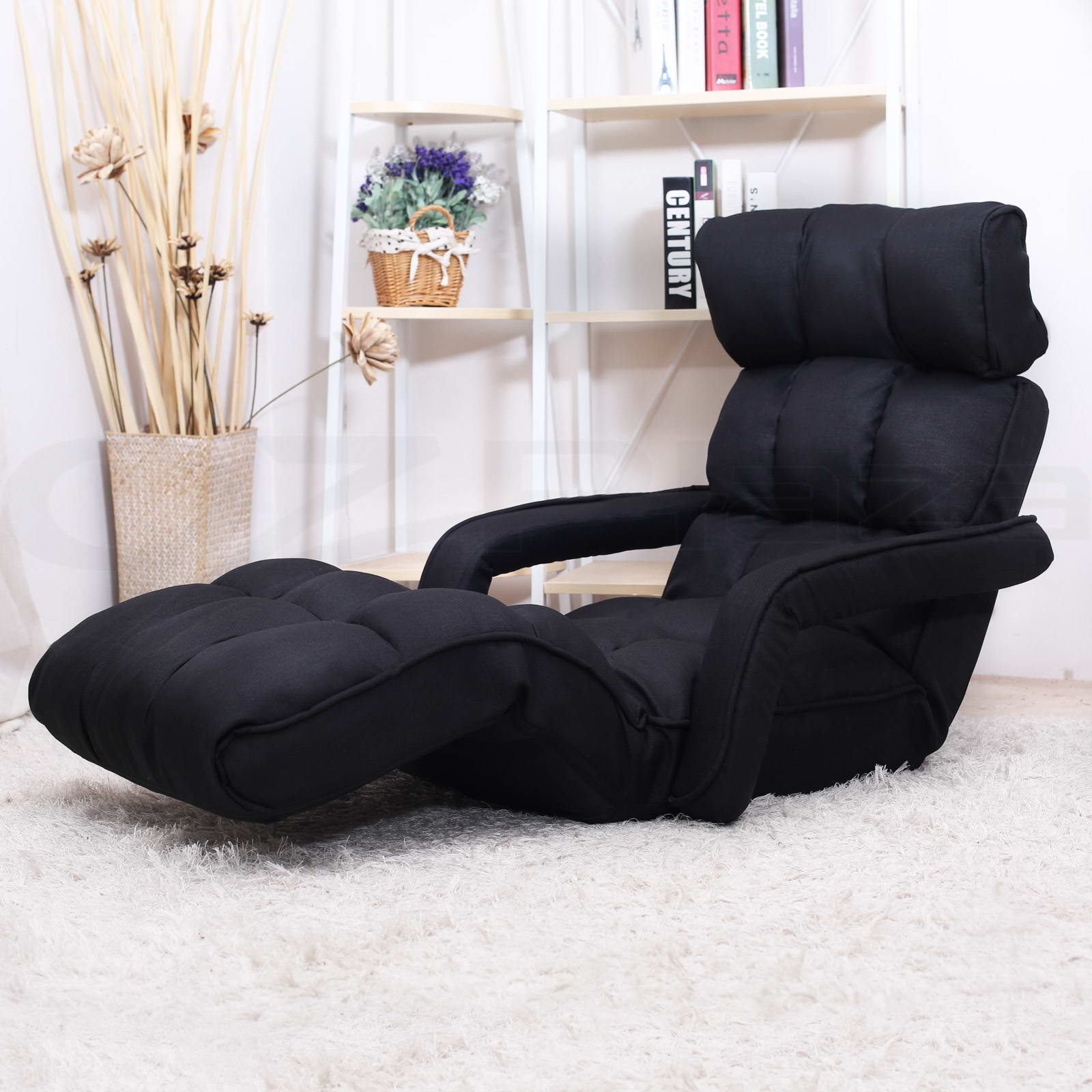 folding floor chair australia invisible prank single home lounge sofa bed recliner armchair