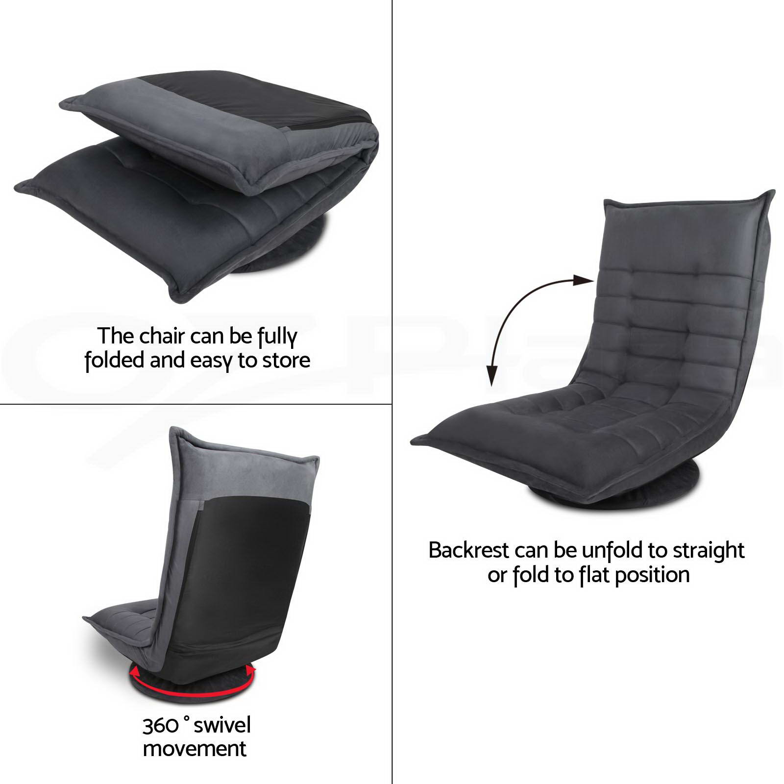 folding floor chair australia oxo tot sprout replacement shoulder straps single home lounge sofa bed recliner armchair