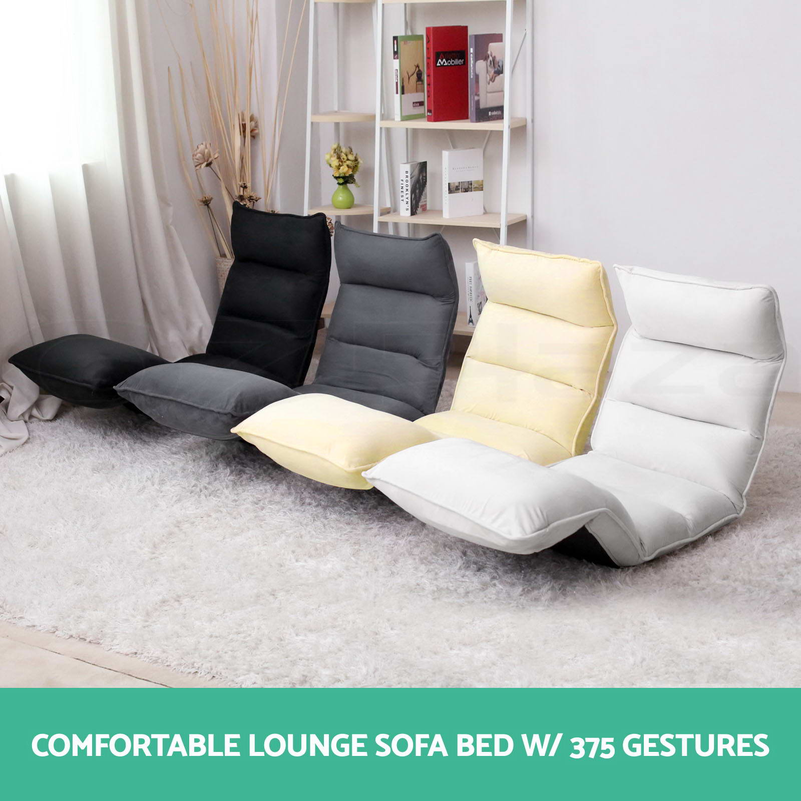 Folding Couch Chair Lounge Sofa Bed Floor Recliner Folding Chaise Chair