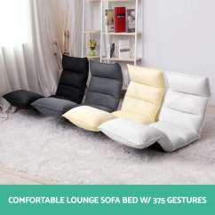 Foldable Chair Bed Folding Jysk Lounge Sofa Floor Recliner Chaise