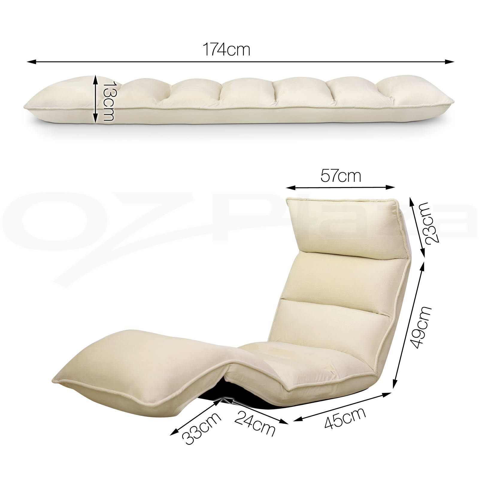 Floor Lounge Chair Lounge Sofa Bed Floor Recliner Folding Chaise Chair