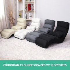 Folding Floor Sofa Chair Leather Cleaner Asda Lounge Bed Recliner Chaise
