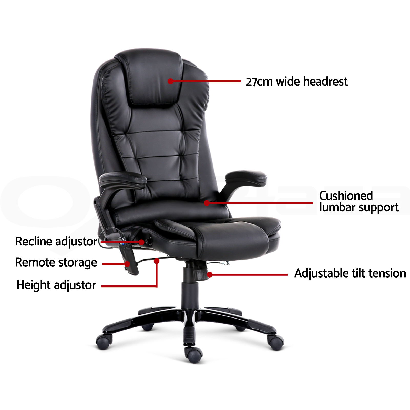Heated Massage Office Chair 8 Point Massage Office Chair Racing Executive Heat